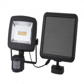 Lampa panou solar, LED, 3W, intrerupator on/off, IP44, negru